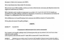 enquête publique «Classement et déclassement de la voirie communale»