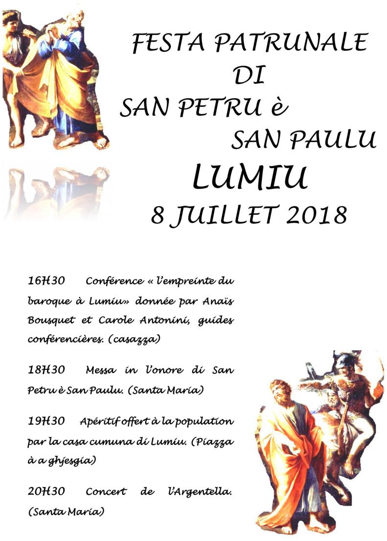 Festa di San Petru e San Paulu - 8 juillet 2018