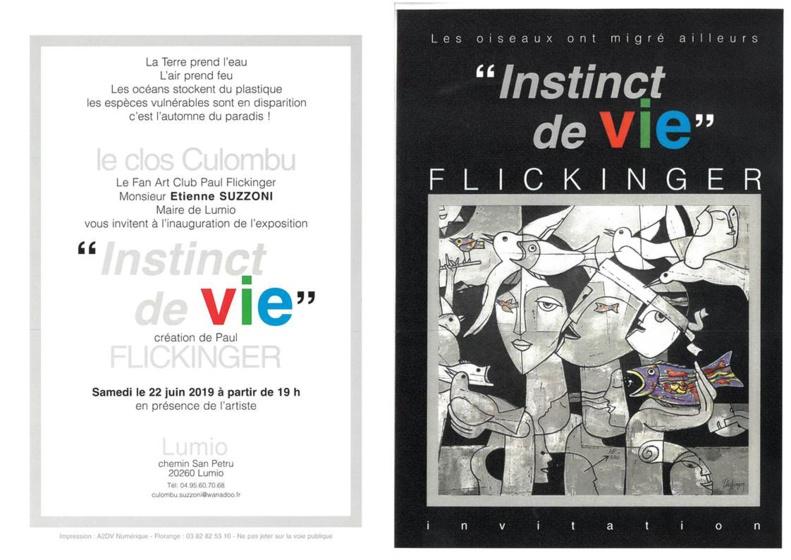 Inauguration de l'exposition du peintre et sculpteur Paul FLICKINGER le 22 juin 2019