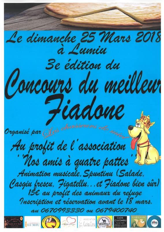 3ème concours du meilleur Fiadone le 25 mars