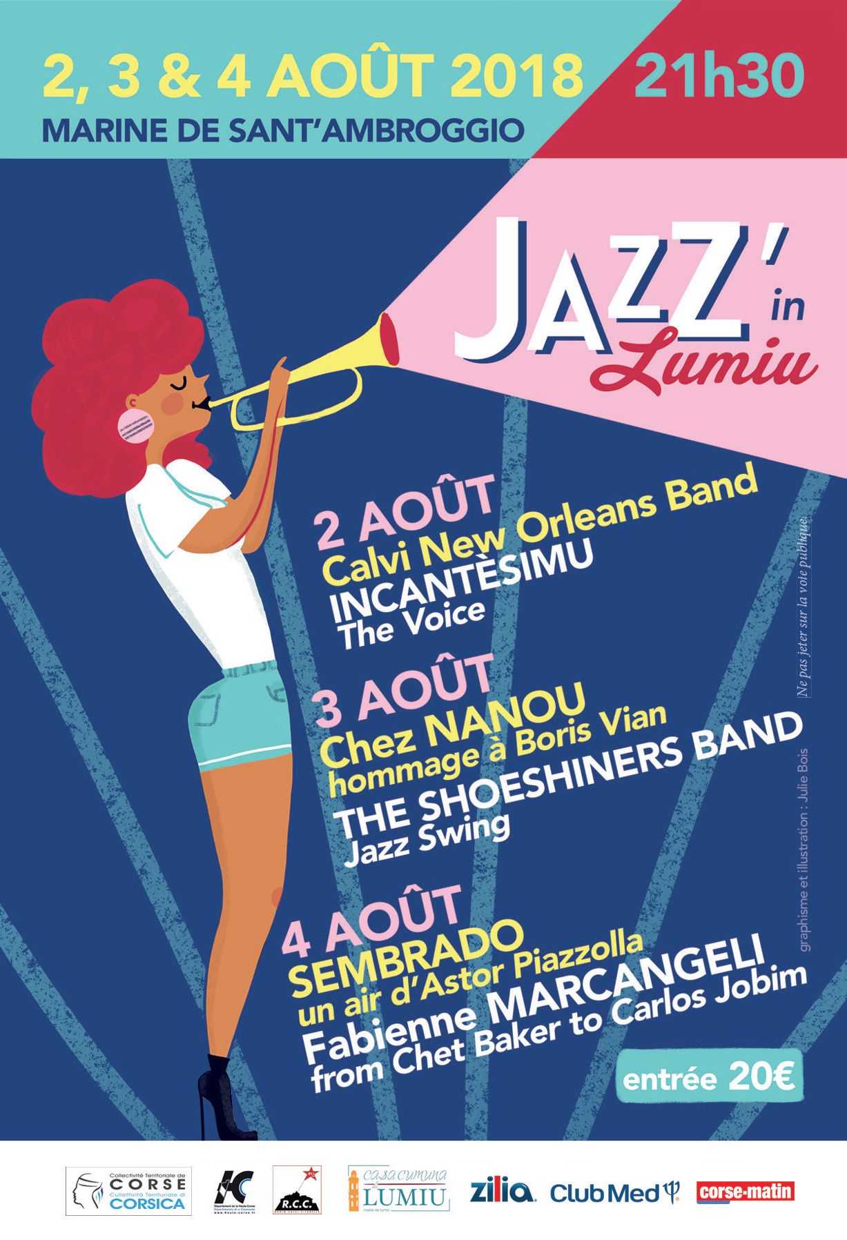 Jazz'In Lumiu les 2, 3 et 4 août 2018