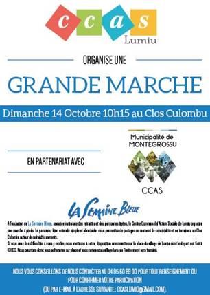 CCAS : Marche bleue le 14 octobre 2018
