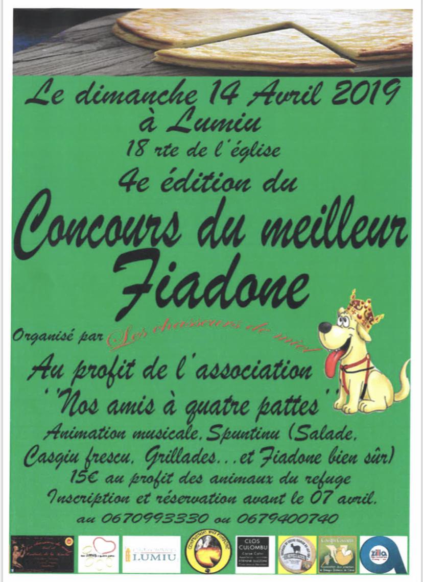 Concours du meilleur fiadone le 14 avril 2019
