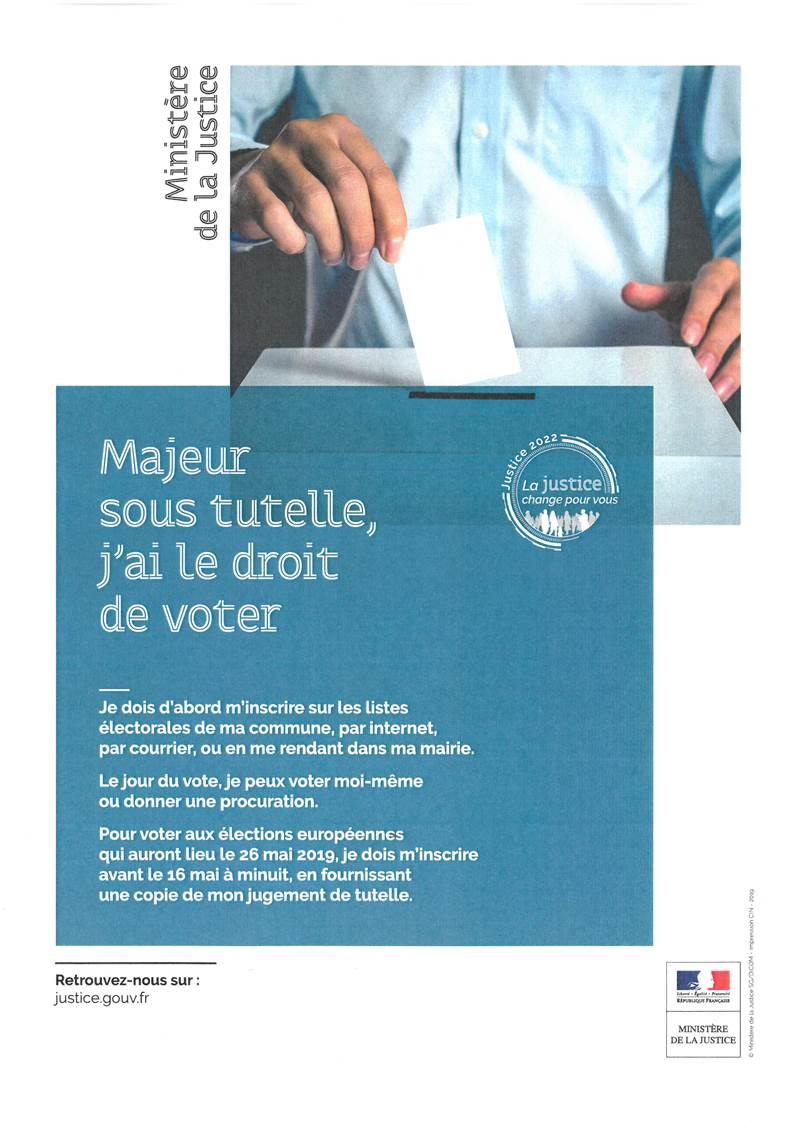 Droit de vote des majeurs sous tutelle