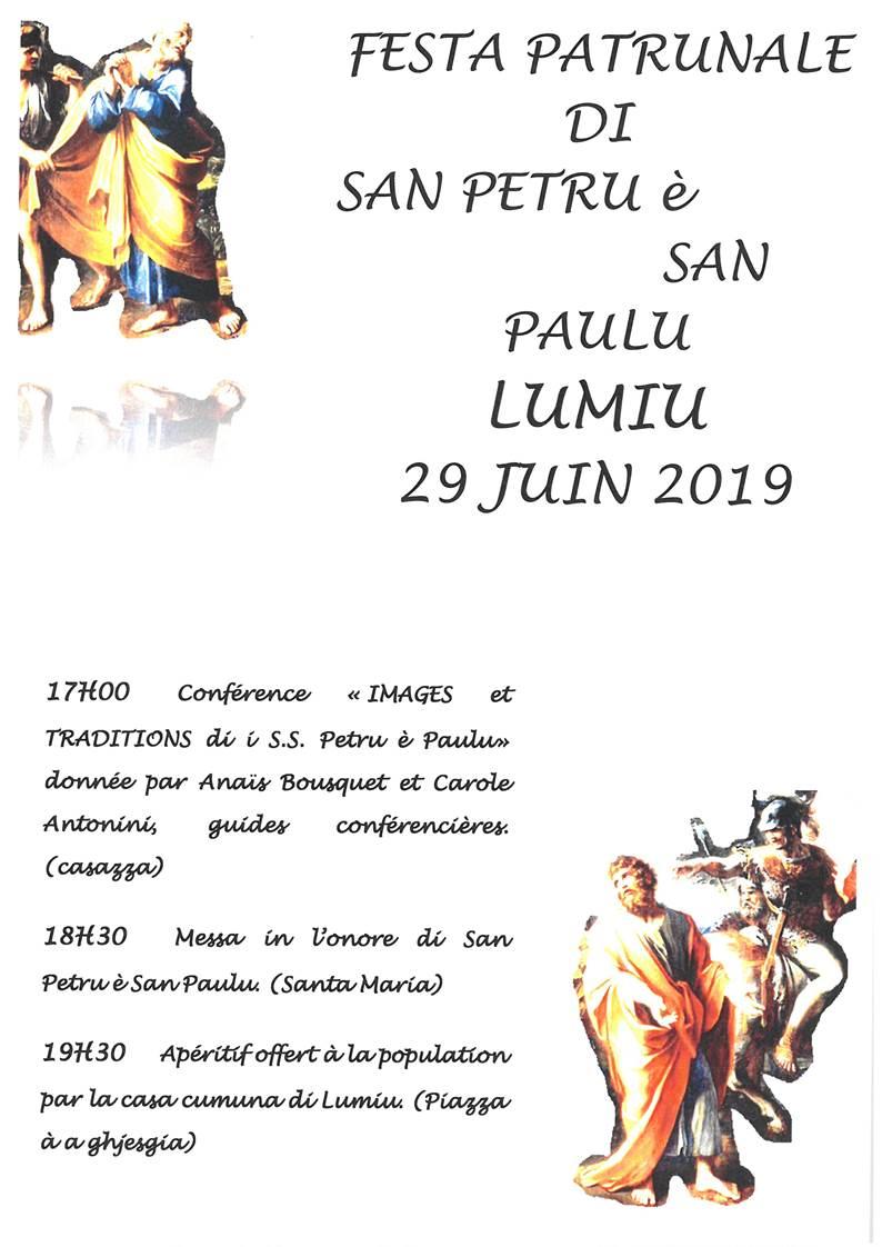 Festa patrunale di San Petru è San Paulu le 29 juin 2019