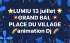 13 juillet 2017 : grand bal avec DJ sur la place du village