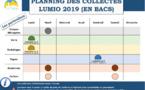 TRI SÉLECTIF : PLANNING 2019 DES COLLECTES